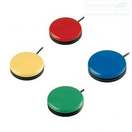 Big Buddy Buttons - red, green, blue or yellow cap choices