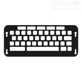 Co:Writer keyboard keyguard - black is shown here to highlight the layout, keyguards are cut in clear acrylic
