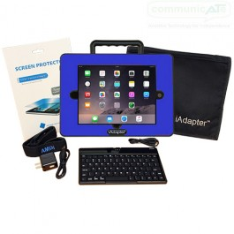 iAdapter 6 for iPad Air 2 or iPad Pro 9.7 Bundle showing the Mini Bluetooth Keyboard, Skin and Carry Bag Satchel which are included (your choice of skin colour)