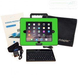 iAdapter 6 for iPad Air and iPad (2017) Bundle showing the Mini Bluetooth Keyboard, Skin and Carry Bag Satchel which are included (your choice of skin colour)