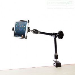iDevice with Knob holding an iPad (iPad not included, a Mini is shown here for indicative purposes- your iPad Pro 12.9 would look similar, but BIGGER!) - landscape use