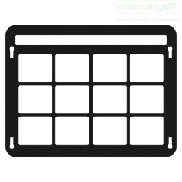 TouchChat VocabPC keyguard for iPad. The keyguard is made in clear or semi clear acrylic, the black shown here is for illustration only