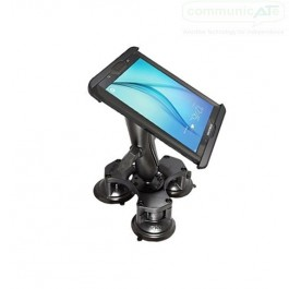 The RAM Table Top Triple suction cup base mount with iPad 2,3,4 EZ Roll'R cradle