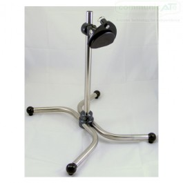 DAESSY Vertical Desk Stand showing the standard large face Articulating Quick Release Base without handles (Allen Wrench adjustments)