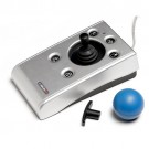n-Abler Pro Joystick with the t-bar and ball handles, the knob handle is installed