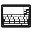 Predictable version 2 keyguard (black shown here for illustrative purposes, the standard colour is clear acrylic)