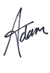 Adam in handwriting, website only, reject if seen elsewhere, not authorised